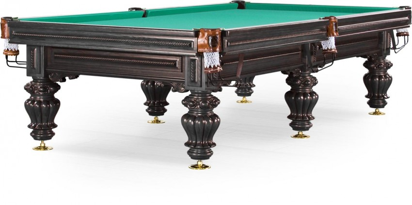 Стол / пирамида Weekend Billiard Company Turin 9 ф (черный орех, 6 ног, плита 38мм) 55.984.09.5
