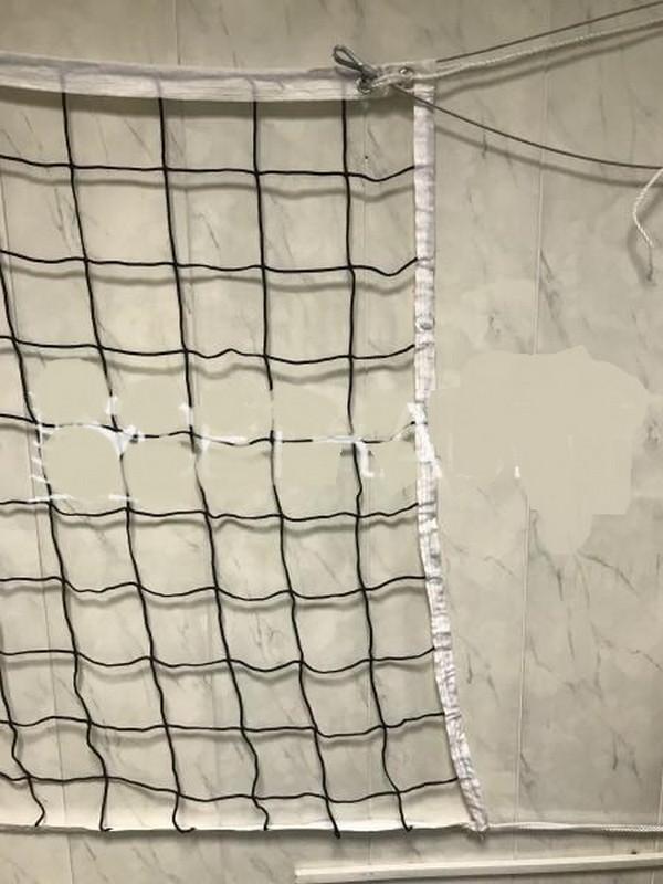 Купить Сетка волейбольная нить 3 мм с тросом Ø мм, цвет черный, яч. 10см. ПрофСетка, шт 5030-05, ПрофСетка
