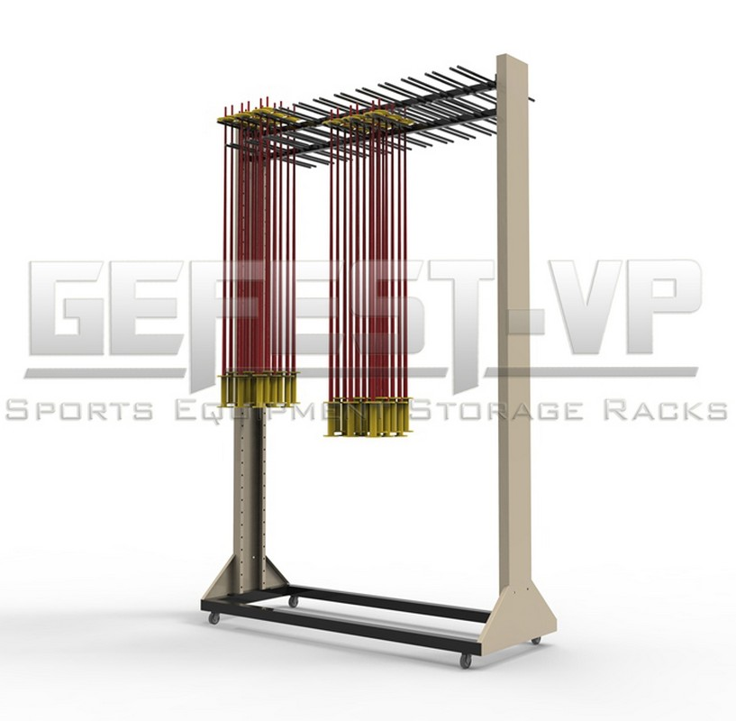 Стойка для хранения лыжных палок «Стандарт» на 138 пар двухсторонний Gefest 200х121х67