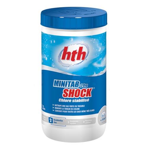 Купить Быстрый стабилизированный хлор, Minitab shock, табл.20гр.,1,2кг, HtH C800672H2,