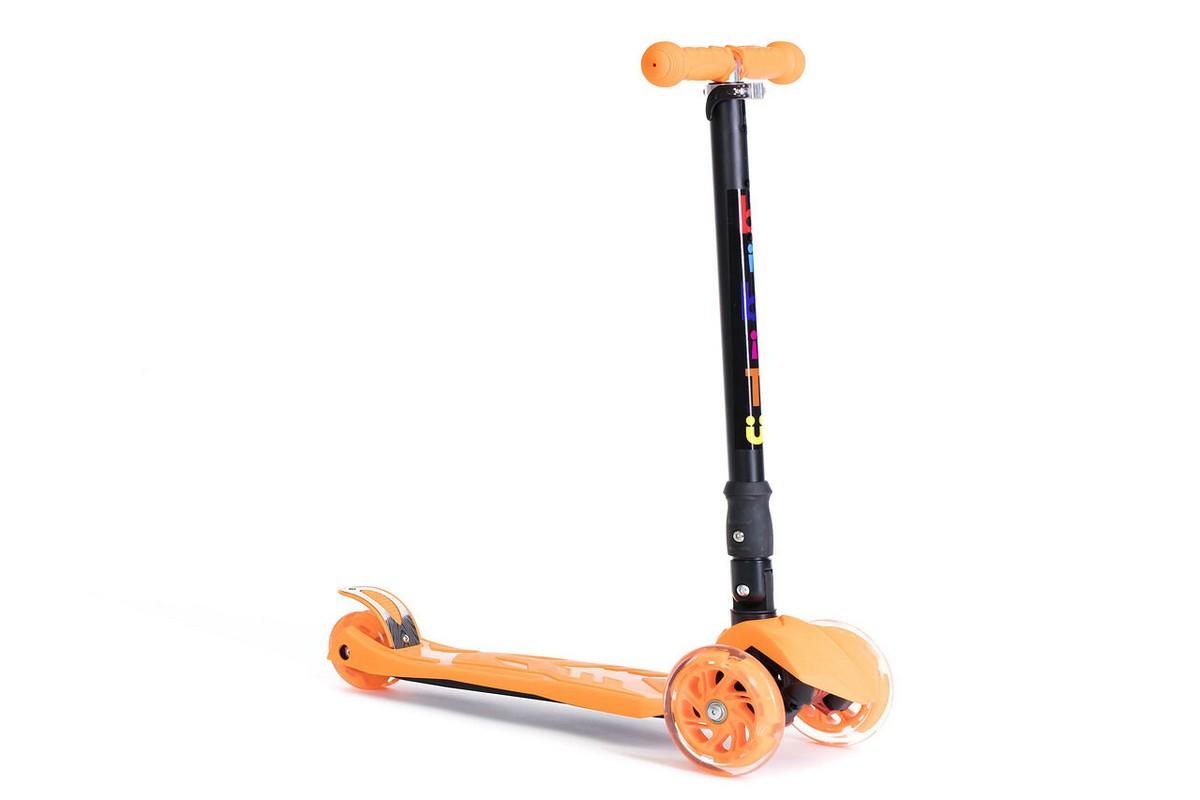 Самокат детский BiBiTu тротинетка 3-х колесный PLAY SKL-07D-OR оранжевый,  - купить со скидкой