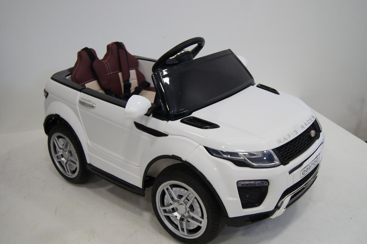 Купить Электромобиль River-Toys Range O007OO VIP белый с ДУ, Детские электромобили