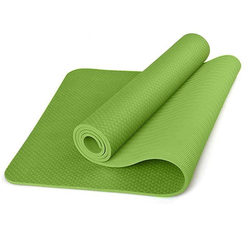 Купить Коврик для йоги ТПЕ 183х61х0,6 см B31276-3 зеленый, NoBrand