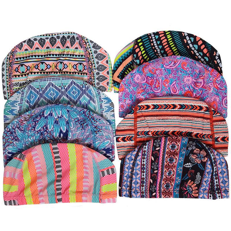 Купить Шапочка для плавания текстиль (Узор) C33230-3, NoBrand