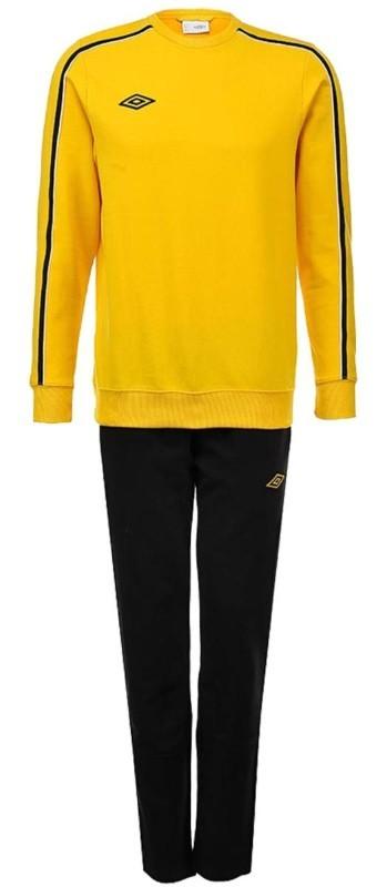 Костюм спортивный Umbro Staduim Training Poly Suit мужской 350413 (366) жёл/чер.
