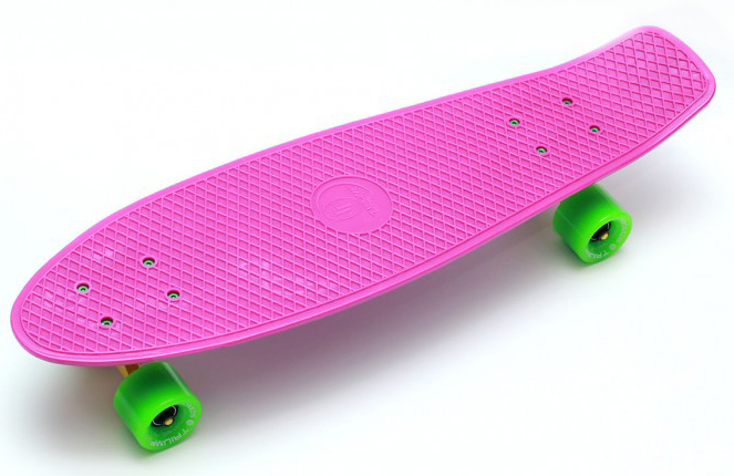Купить Скейтборд Triumf Active TLS-402 розовый с зелеными колесами 27 во5506,