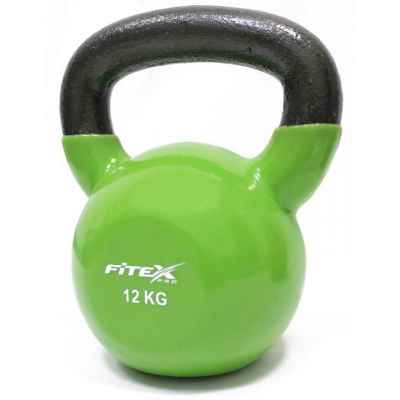 Купить Гиря в виниловой оболочке 12 кг Fitex Pro FTX2201-12,