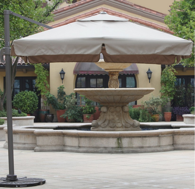Зонт садовый подвесной GardenWay A002-3030 Бежевый (тауп)