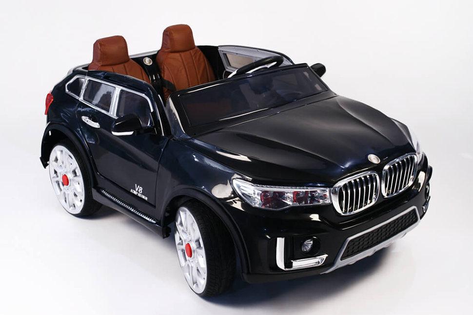 Купить Электромобиль River-Toys BMW M333MM черный с ДУ, Детские электромобили