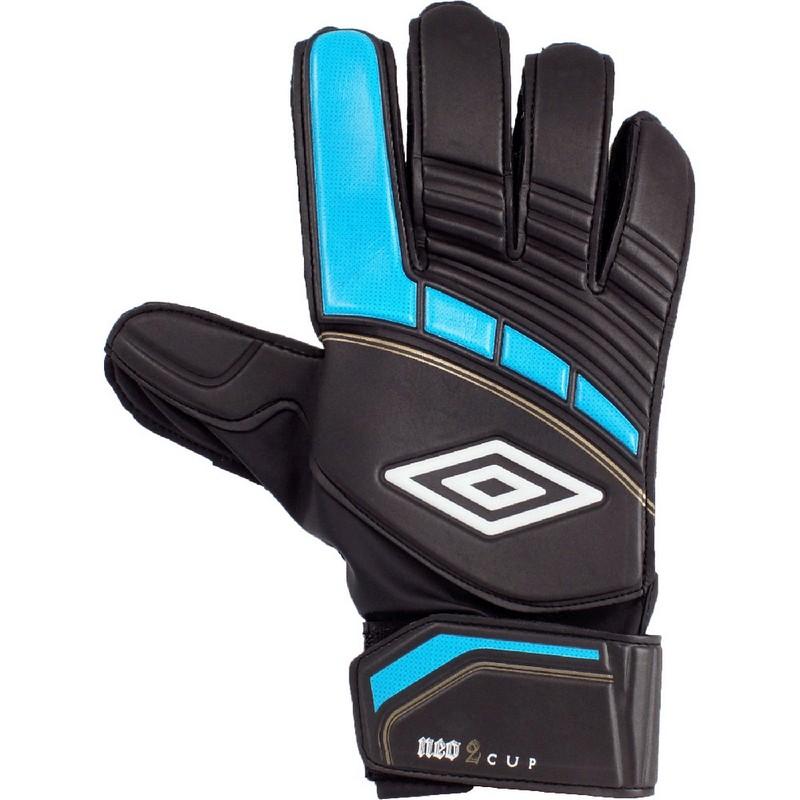 Перчатки вратарские Umbro Neo Cup Glove 20377U DAU черно-синий-золотой