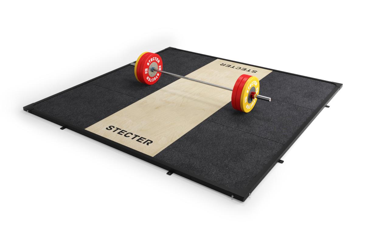 Помост для тяжелой атлетики (3х3 метра) Stecter 2286