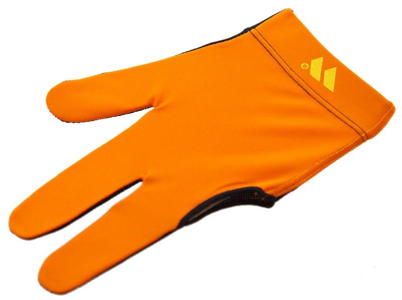 Перчатка бильярдная WB черно-оранжевая, защита от скольжения 45.255.03.2