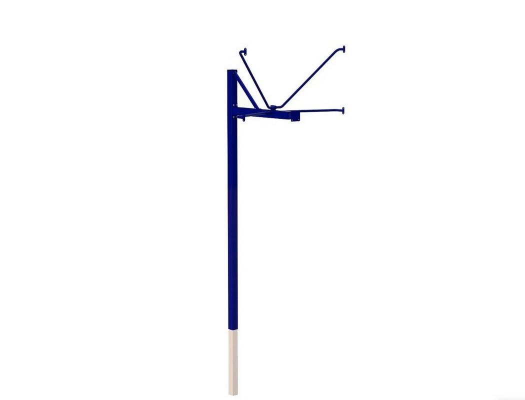 Купить Стойка баскетбольная ZSO уличная одноопорная для игрового щита (1050х1800 мм), вынос 1200 мм,