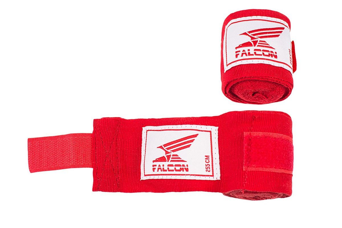 Бинт боксерский Falcon HWRP 1 355см, красный