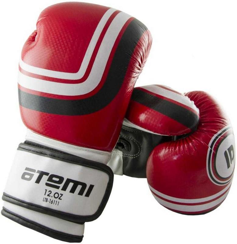 Перчатки боксерские Atemi LTB-16111, 6 унций S/M, красные перчатки боксерские green hill proffi цвет желтый черный белый вес 12 унций bgp 2014