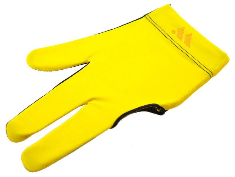Перчатка бильярдная WB черно-желтая, защита от скольжения 45.255.03.6