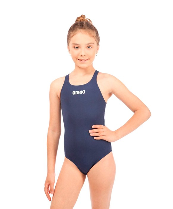 Купальник спортивный Arena Solid Swim Pro Jr Navy/White (2A263 75)