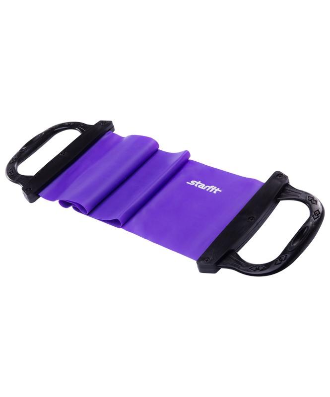 Купить Эспандер ленточный Star Fit ES-202 жесткая ручка, фиолетовый,