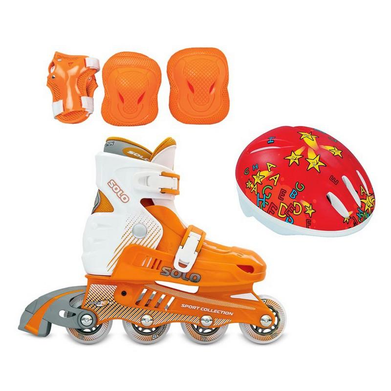 Роликовые коньки СК Solo combo оранжевый коньки onlitop abec 5 35 38 purple 869414