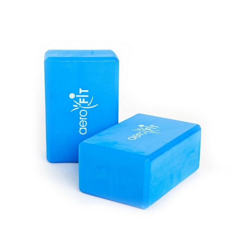 Йога блок Aerofit AFBL01 синий,  - купить со скидкой