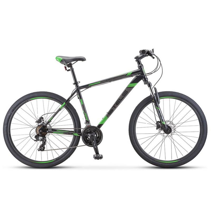 Купить Велосипед Stels Navigator 700 D F010 2020 ЧёрныйЗелёный 27.5Ø (LU093938),