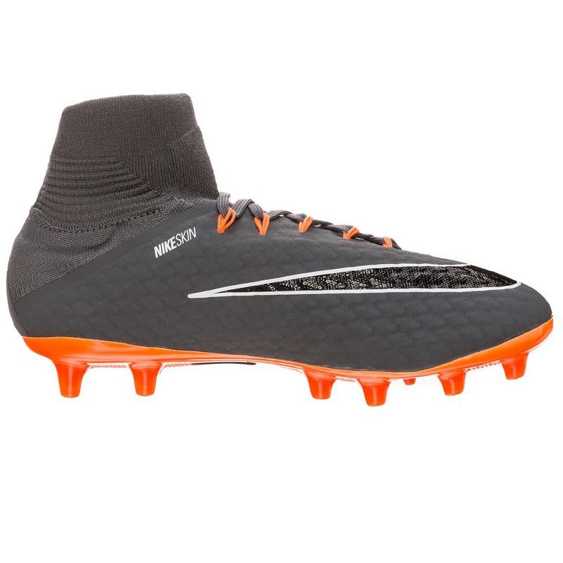 Бутсы футбольные Nike Phantom III Pro DF Ag-pro Ah8842-081 SR серые