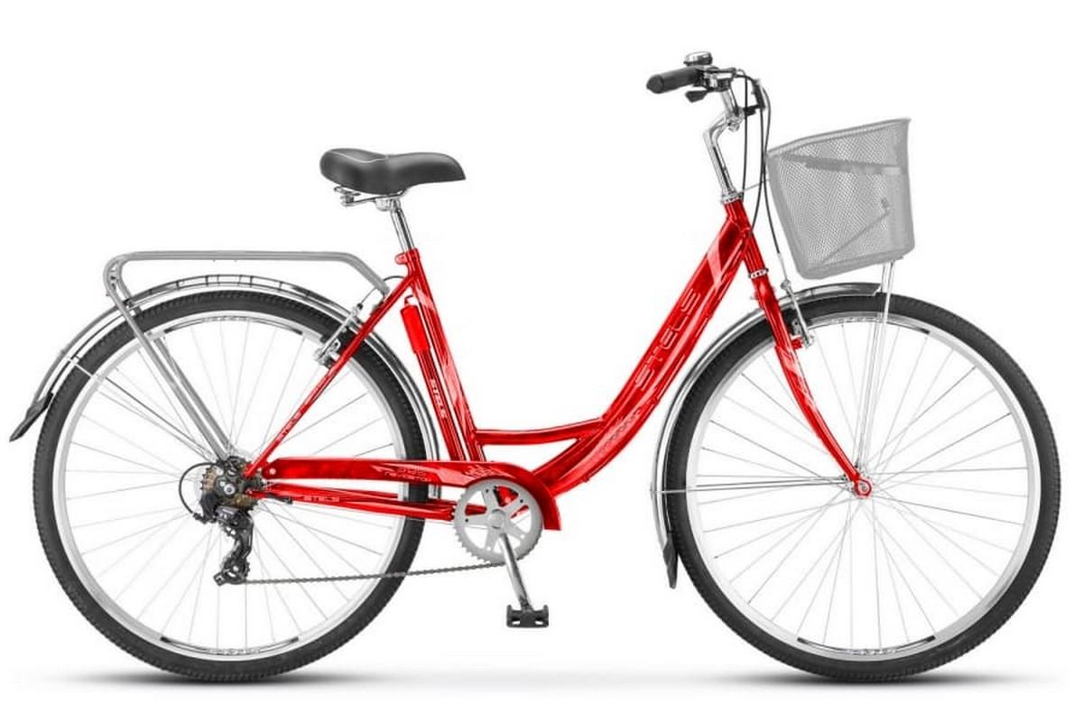Купить Велосипед Stels Navigator 28 395 Z010 2018 Красный (с корзиной) (LU089103),