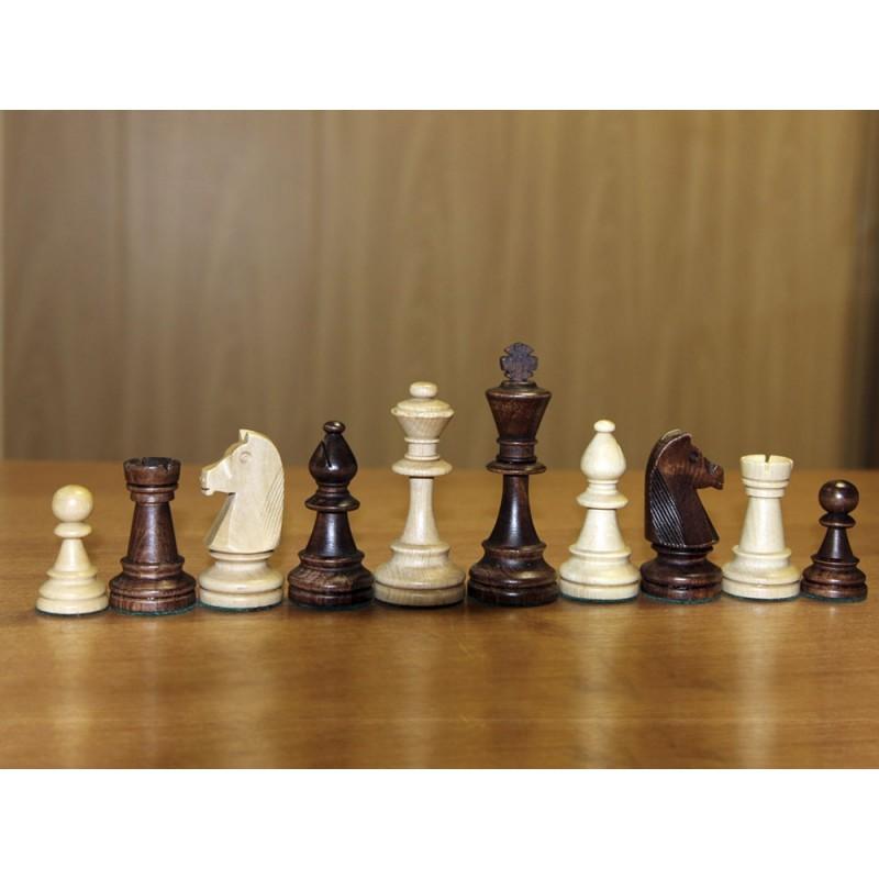 Фигуры шахматные деревянные Стаунтон №6 с утяжелителем ШФ 13, NoBrand  - купить со скидкой