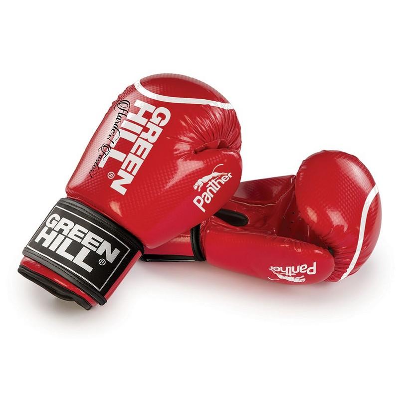 Перчатки боксерские Green Hill Panther BGP-2098, синт. кожа ПУ, красные nemex 2 16 oz
