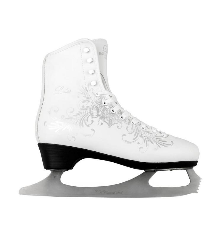 Фигурные коньки СК Ladies Lux Fur Corso белый