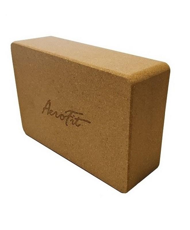 Блок для йоги Aerofit пробковый AFBL02,  - купить со скидкой
