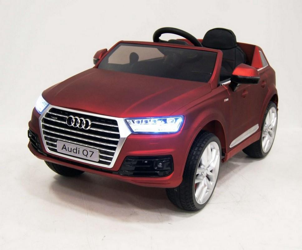 Купить Электромобиль River-Toys Audi Q7 Quattro (лицензия) красный глянец, Детские электромобили