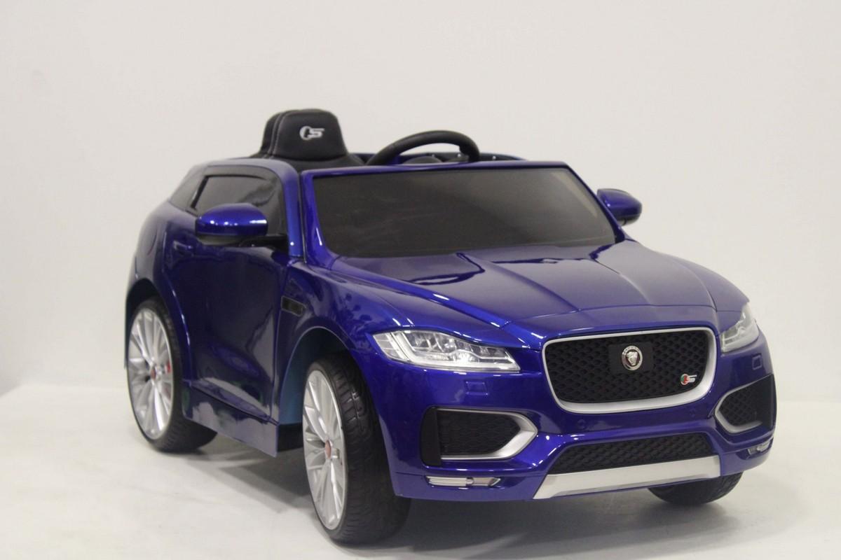 Купить Детский электромобиль River-Toys джип Jaguar F-Pace LS-818 синий глянец, Детские электромобили