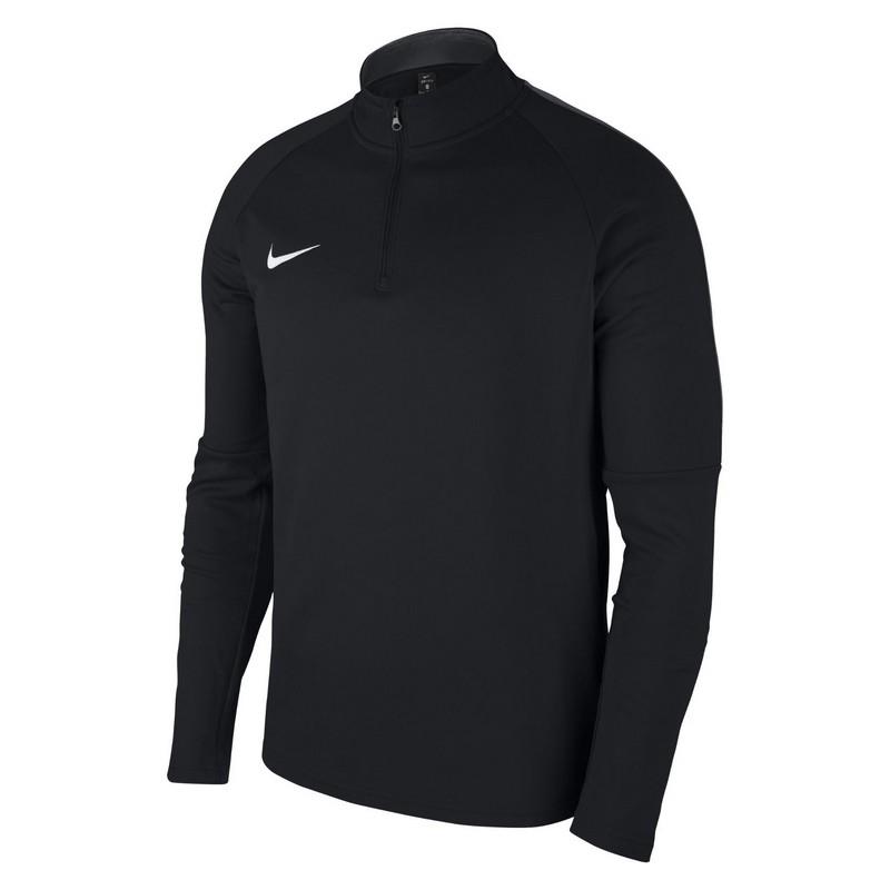 Свитер тренировочный Nike Dry Acdmy18 Dril Top Ls 893624-010 черный свитер тренировочный nike m nk dry sqd17 dril top ls 831569 010