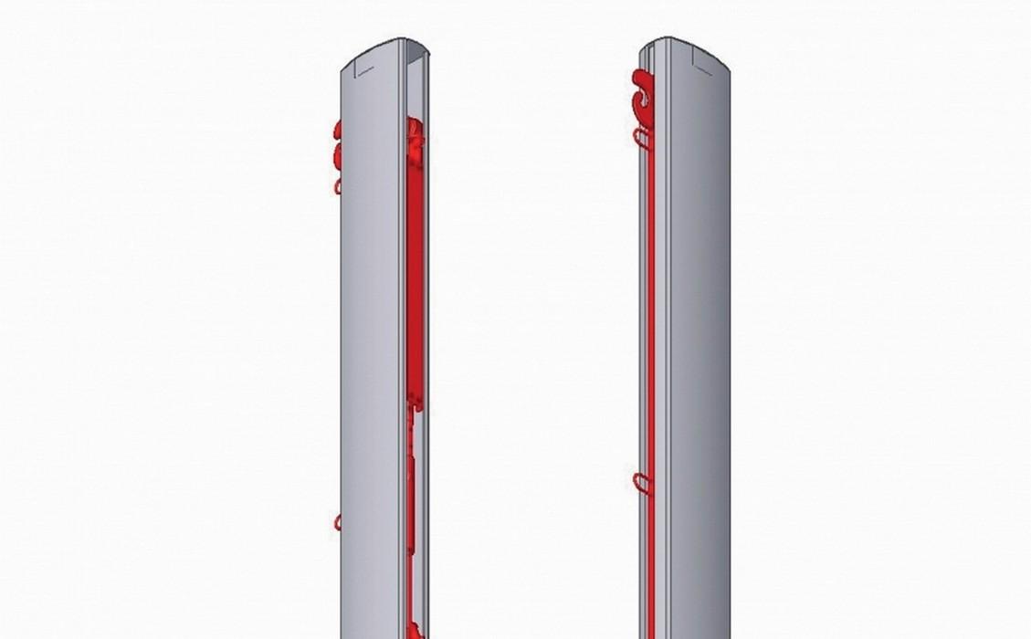 Стойка волейбольная Pesmenpol центральная 2-сторонняя алюминиевая, с механизмом натяжения