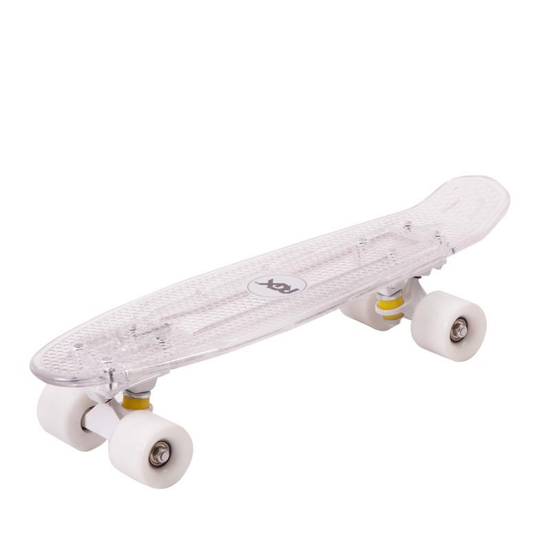 Мини-круизер RGX PNB-06 LED-подсветка, White скейт мини круизер turbo fb stawberry grass red green white 22 55 9 см