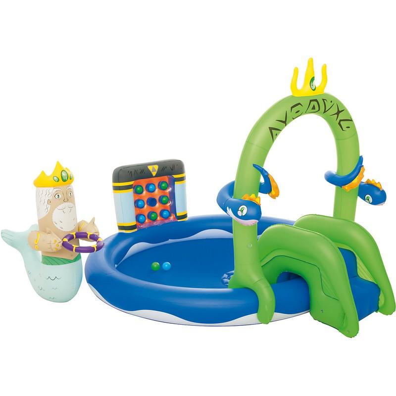 Купить Игровой центр с горкой 231х193х150см Bestway 53057, Детские надувные бассейны