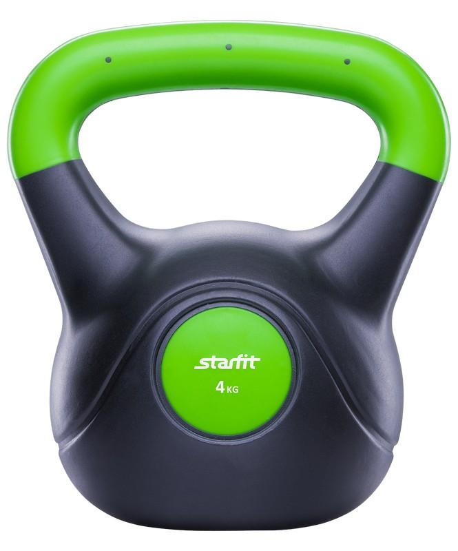 Гиря пластиковая 4 кг Starfit DB-501 зеленый