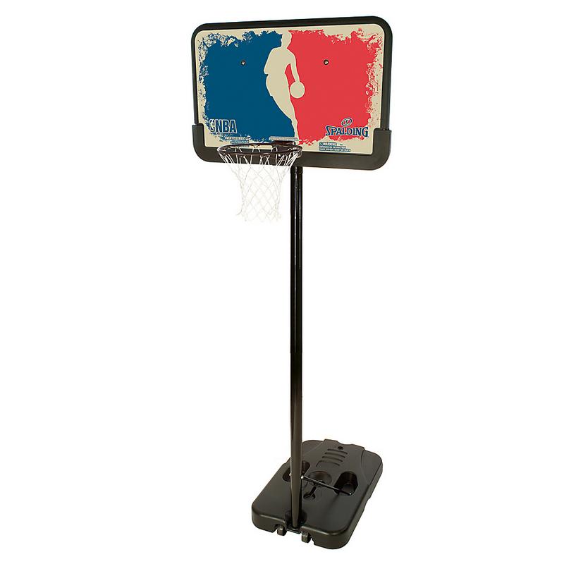 Баскетбольная стойка Logoman Series Spalding 61753CN Portable 44 quot; spalding баскетбольная стойка spalding 2013 highlight 42 acrylic system