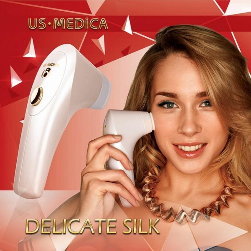 Картинка для Вакуумный массажер для лица US Medica Delicate Silk AF розовый