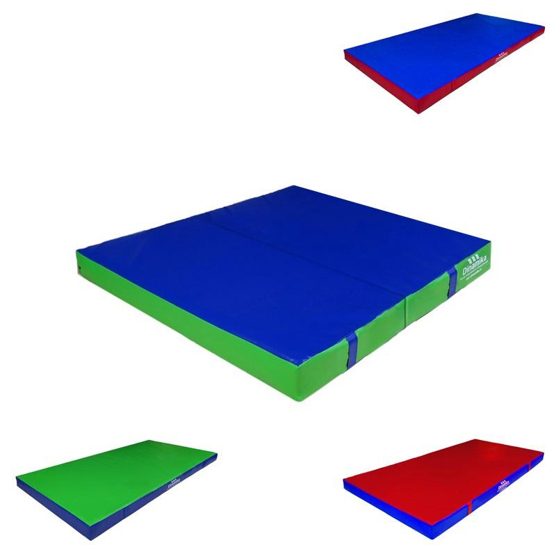 Купить Мат гимнастический 100x100x10см винилискожа складной в 2 сложения (холлослеп/холлофайбер) Dinamika ZSO-001336,