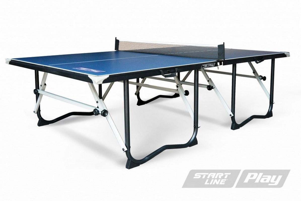 Теннисный стол Start Line Play крашеный МДФ 15 мм, сетка, держатель SLP-9F29