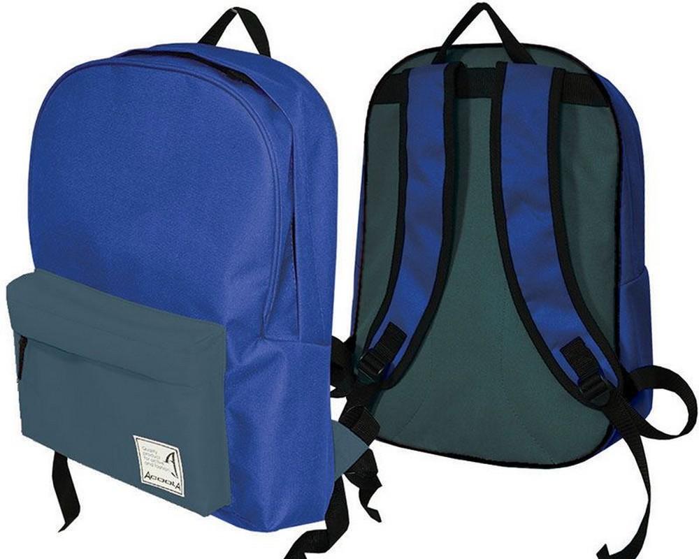 Рюкзак Барс Acoola City Style Basic, голубой/темно-серый