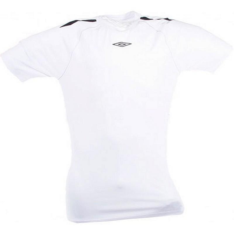Термофутболка Umbro Men's poly s/s jersey тренировочная (096) бел/чер.