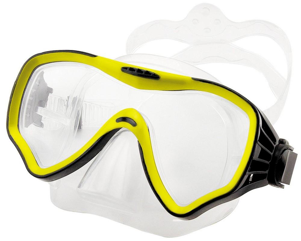 Купить Маска для плавания Atemi 428 жёлтый,