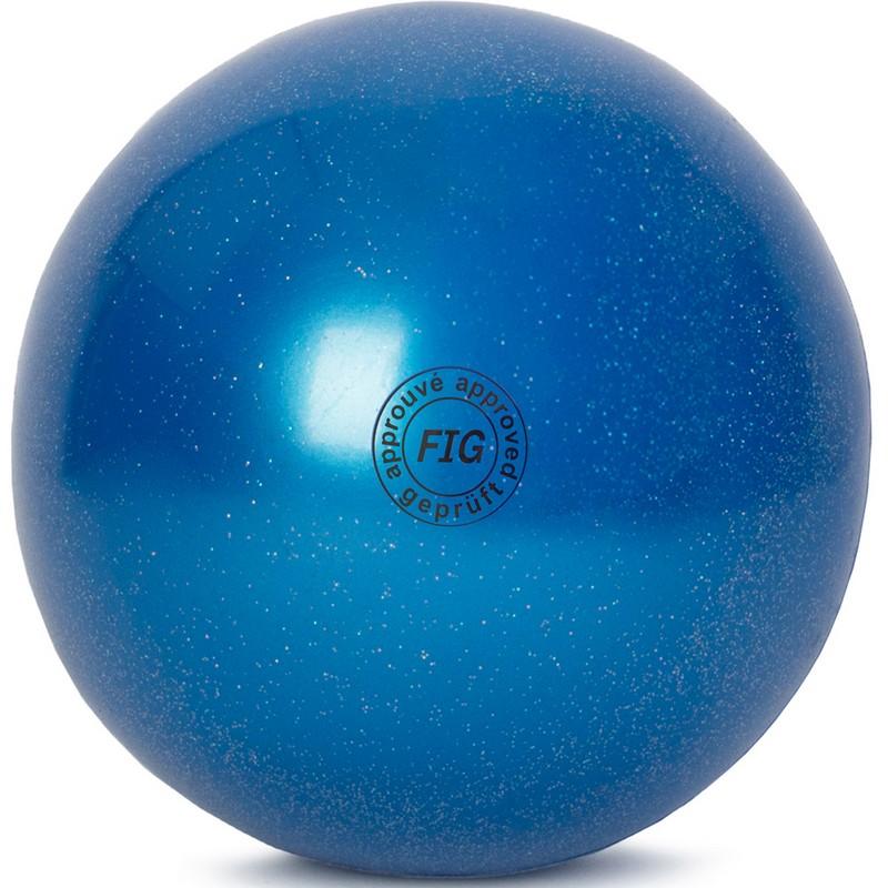 Купить Мяч для художественной гимнастики 15 см GC 02 синий металлик, NoBrand