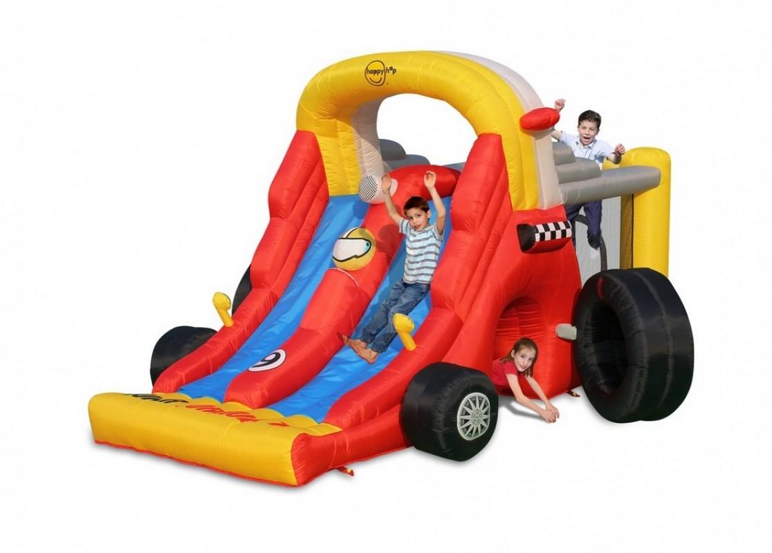 Детский надувной Батут Happy Hop Формула 1 9026