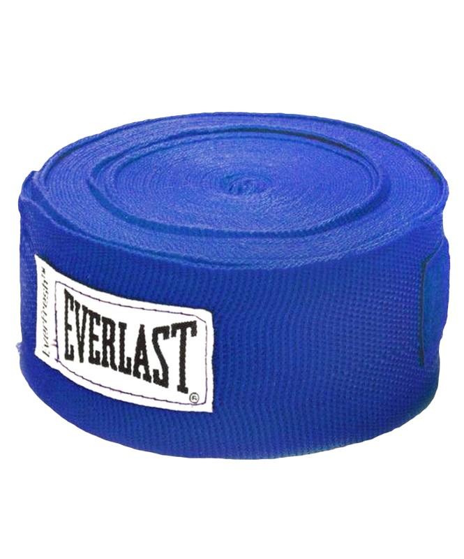 Бинт боксерский Everlast 4465BL, 2,5м, х/б, синий цена