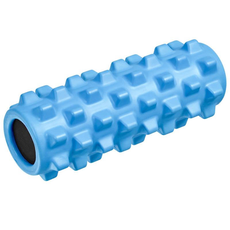 Ролик для йоги полнотелый B33089 (голубой) 33х12см., ЭВА/ПВХ/АБС, NoBrand  - купить со скидкой