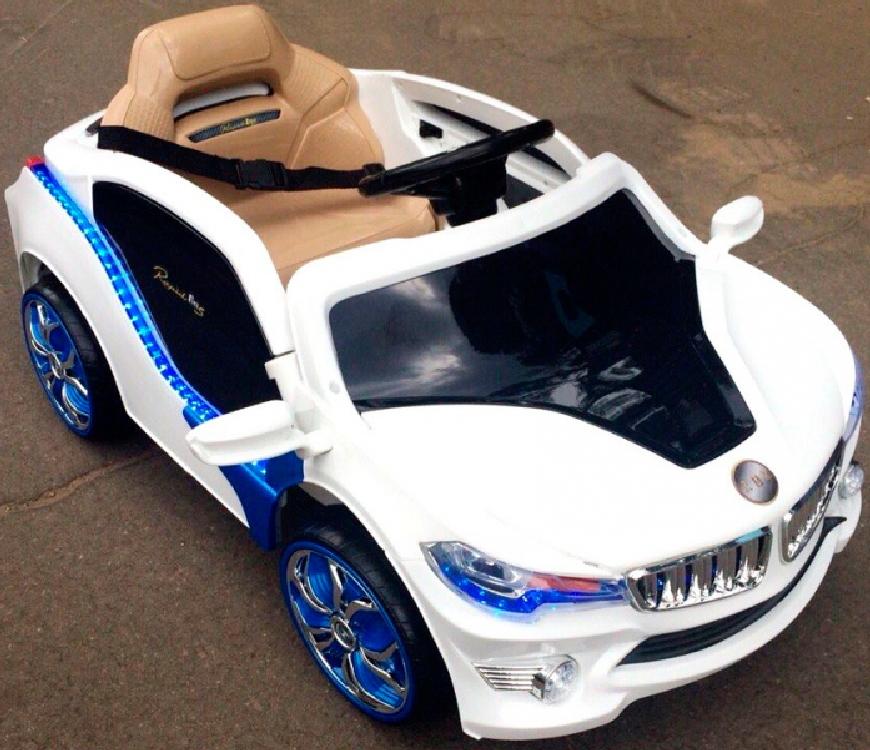 Электромобиль River-Toys BMW O002OO-VIP белый с ДУ (лицензия)